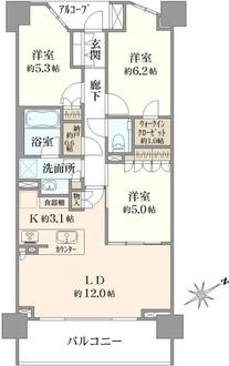 ザ・パークハウス武蔵野の間取図
