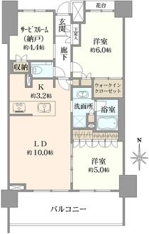 クリオ武蔵小金井フロントアベニューの間取図