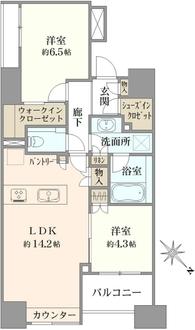 パークホームズ日本橋水天宮前の間取図
