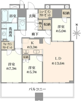 武蔵野タワーズスカイゲートタワーの間取図