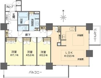 大阪福島タワーの間取図