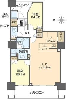 福島ガーデンズタワーの間取図
