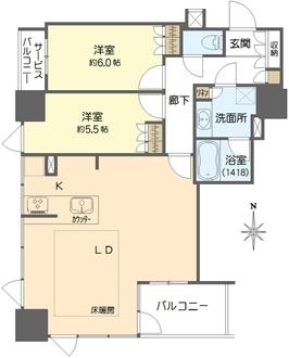 プレサンスレジェンド堺筋本町タワーの間取図