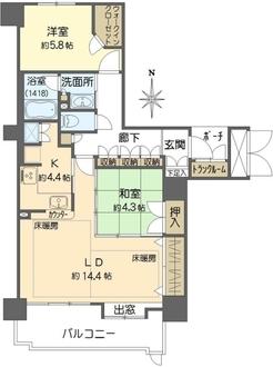 ジーニス大阪EAST棟の間取図