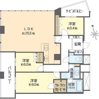 ザ・タワー大阪の間取図