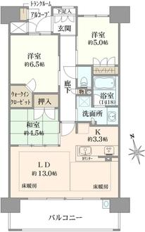 ブランズシティ都島友渕町の間取図