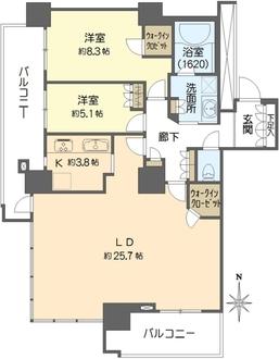 レジデンス梅田ローレルタワーの間取図