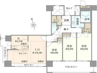 エルザグレース堀江タワーの間取図