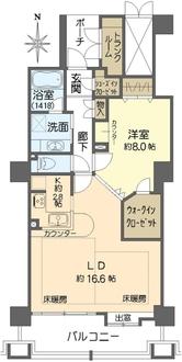 ジーニス大阪 WEST棟の間取図