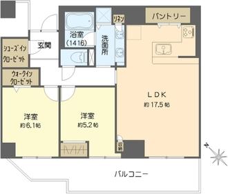 桜宮リバーシティ・ウエスト13-1号棟の間取図