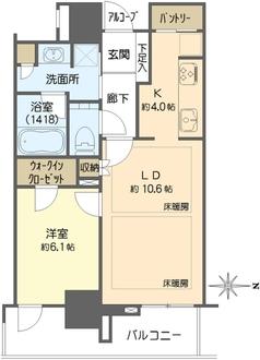 グランドメゾン新梅田タワーの間取図