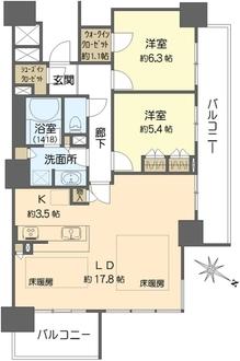 シティタワー大阪福島の間取図