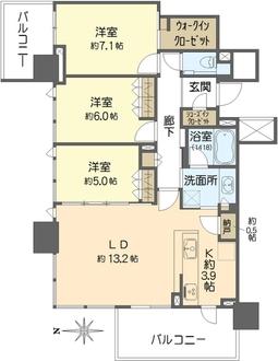 シティタワー東梅田パークフロントの間取図