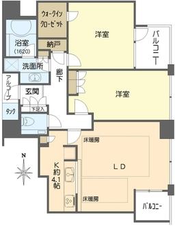 シティタワー西梅田の間取図
