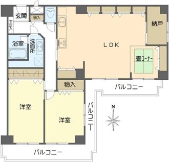 センチュリーパークユニ東梅田の間取図