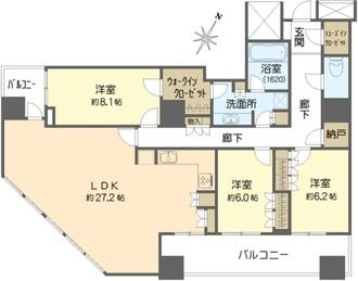 クロスタワー大阪ベイの間取図