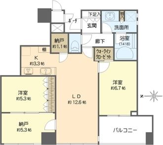 シティタワー大阪天満の間取図