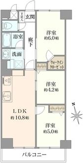 西蒲田さんろーどダイヤモンドマンションの間取図
