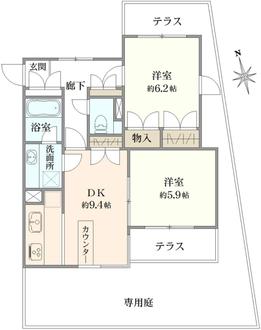 コスモプレイス東蒲田の間取図