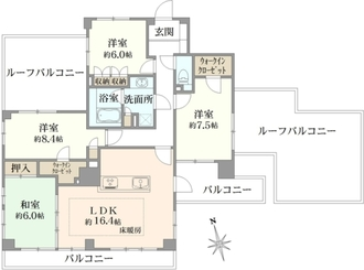 ジェイパーク多摩川弐番館の間取図