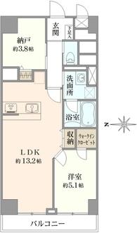 西蒲田スカイハイツの間取図