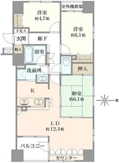 クリオ蒲田1番館の間取図