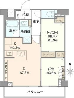 メインステージ多摩川IIIの間取図