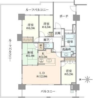 クレッセント東京リプライムの間取図