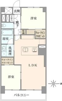 蒲田公園マンションの間取図