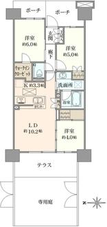 プラウドシティ大田六郷フォレスト街区棟の間取図