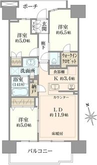 プラウドシティ大田六郷プラザ街区棟の間取図