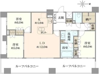 レクセル錦糸町シティ の間取図