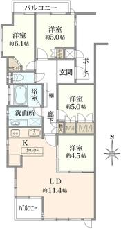 シティハウス錦糸町の間取図