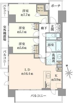 オアシティ錦糸町の間取図