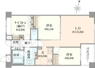 サンクチュアリ菊川リバーサイドステージの間取図