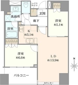 パークタワー錦糸町の間取図