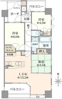 サンクタス錦糸町クレフの間取図