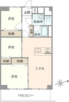 隅田グリーンマンションの間取図