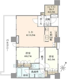 パークタワー東京イーストの間取図