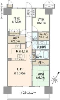 東京リバース・フォートの間取図