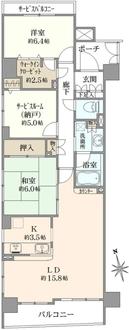 クレストフォルム南砂仙台堀川公園の間取図