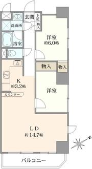 コスモ堀切菖蒲園駅前の間取図