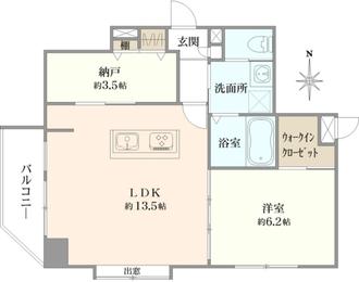 ル・リオン錦糸町エグゼの間取図