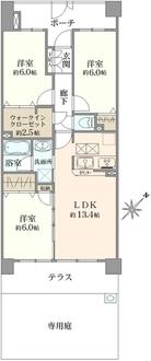 クレストフォルム平井グランステージの間取図