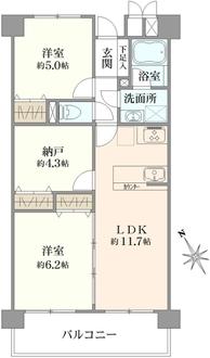 鎌倉町パーク・ファミリアの間取図