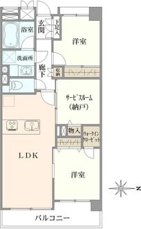 エス・バイ・エルマンション錦糸町の間取図