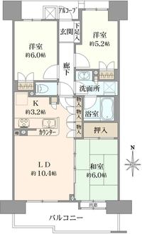 プラウド錦糸公園の間取図