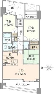 パークハウス フォレストリエの間取図