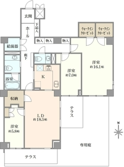 東高成城ペアシティ三船の間取図