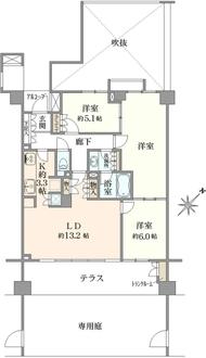 シティウインズ北鎌倉イデアルコートの間取図
